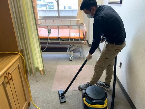 床面除塵作業