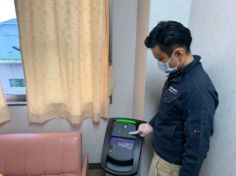 環境表面殺菌スタート