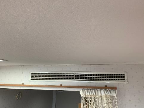 天井除塵作業後