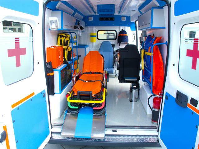 救急車の車内の殺菌